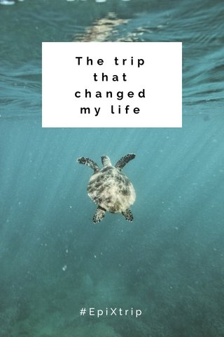 The trip that changed my life #EpiXtrip