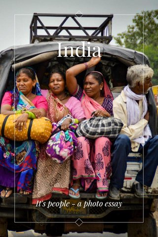 India It's people - a photo essay