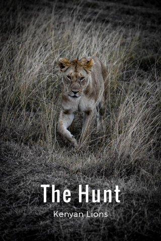 The Hunt Kenyan Lions