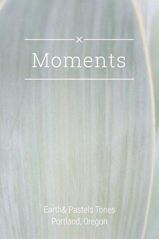 Moments Earth& Pastels Tones Portland, Oregon