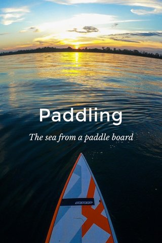 Paddling The sea from a paddle board