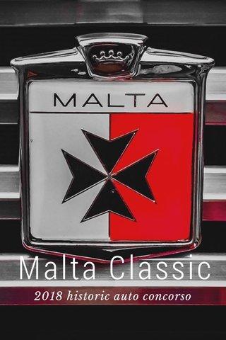 Malta Classic 2018 historic auto concorso