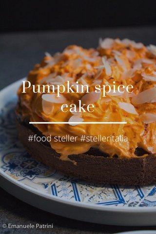 Pumpkin spice cake #food steller #stelleritalia