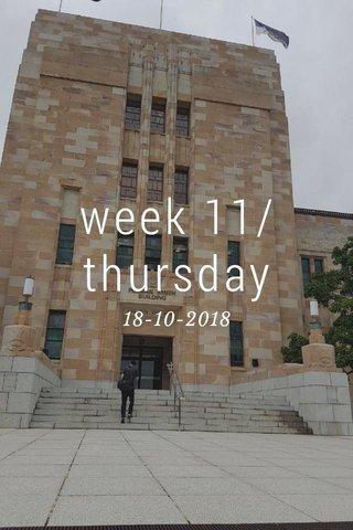 week 11/ thursday 18-10-2018