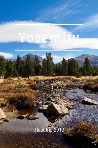 Yosemity Roadtrip 2018