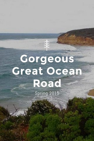 Gorgeous Great Ocean Road Spring 2015