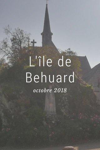 L'île de Behuard octobre 2018