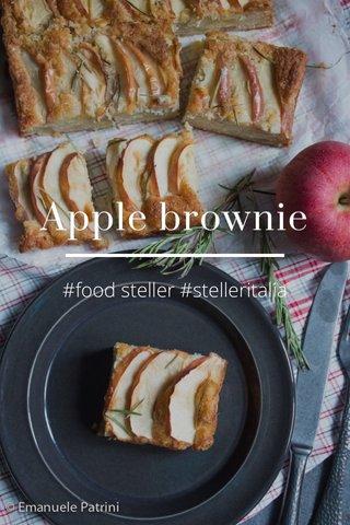 Apple brownie #food steller #stelleritalia