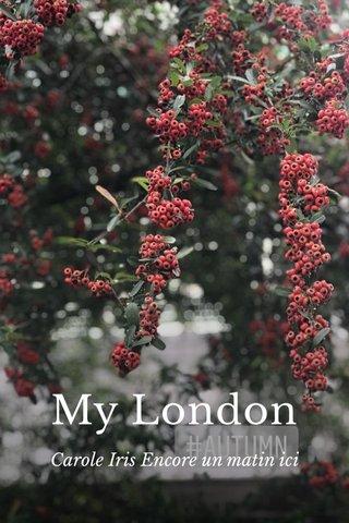 My London Carole Iris Encore un matin ici
