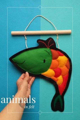 animals in felt