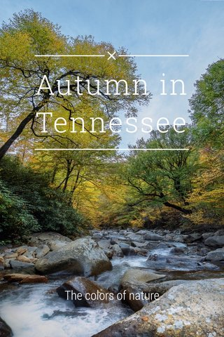 Autumn in Tennessee The colors of nature