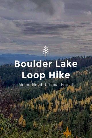 Boulder Lake Loop Hike Mount Hood National Forest