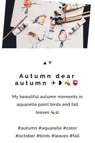 Autumn dear autumn ✈︎❥🍂📮