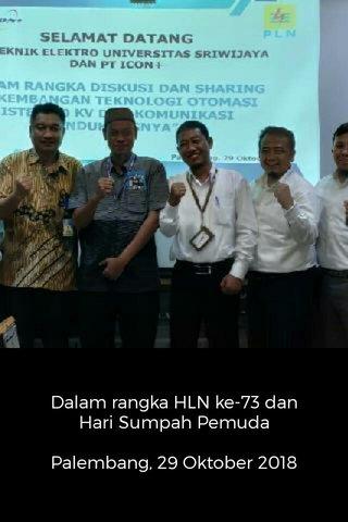 Dalam rangka HLN ke-73 dan Hari Sumpah Pemuda Palembang, 29 Oktober 2018