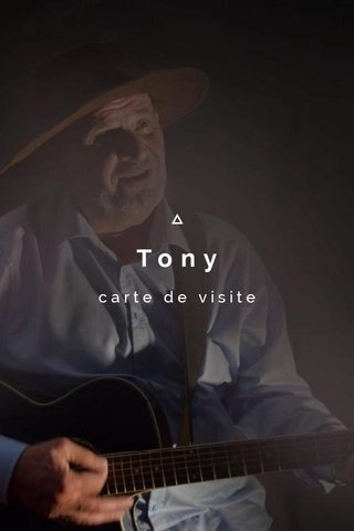 Tony carte de visite