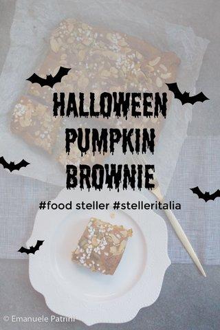 Halloween pumpkin brownie #food steller #stelleritalia