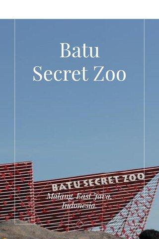 Batu Secret Zoo Malang, East Java, Indonesia.