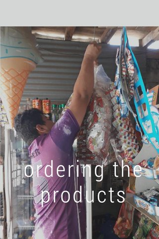 ordering the products