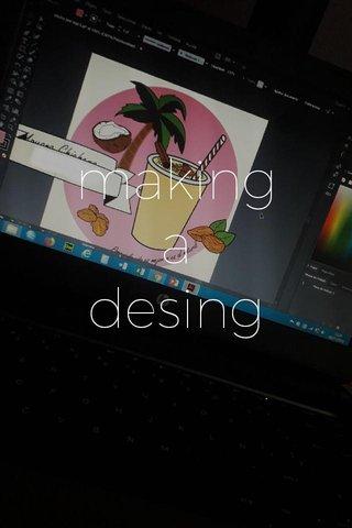 making a desing