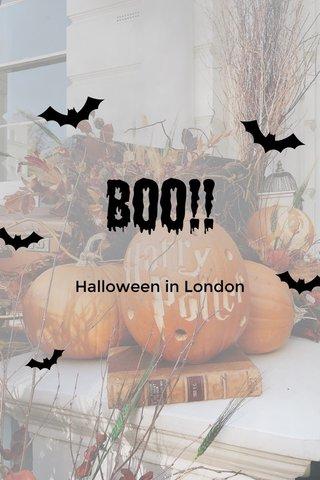 Boo!! Halloween in London