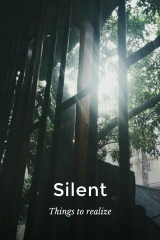 Silent Things to realize
