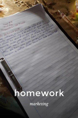homework marketing