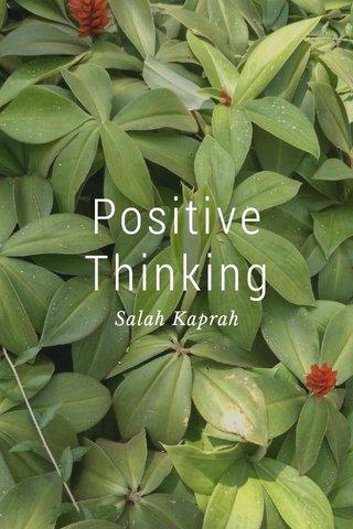 Positive Thinking Salah Kaprah
