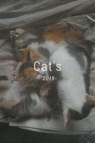 Cat's - 2018-