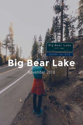 Big Bear Lake November 2018