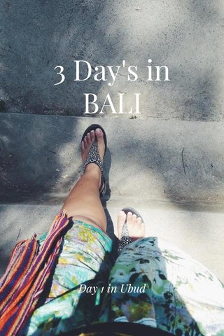 3 Day's in BALI Day 1 in Ubud