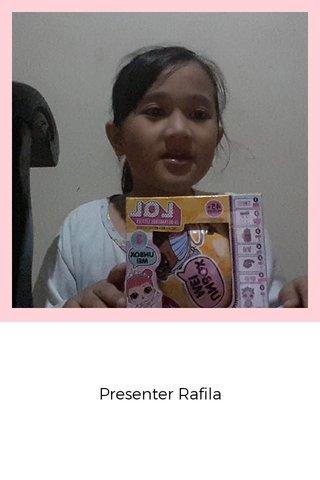 Presenter Rafila
