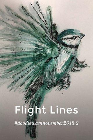 Flight Lines #doodlewashnovember2018 2