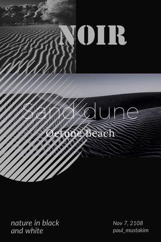 Sand dune Oetune Beach