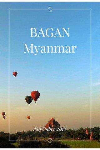BAGAN Myanmar Nopember 2018