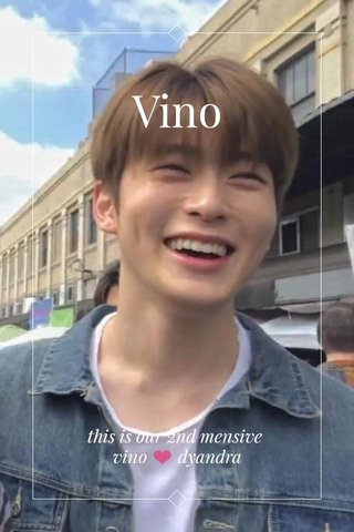 Vino this is our 2nd mensive vino ❤️ dyandra