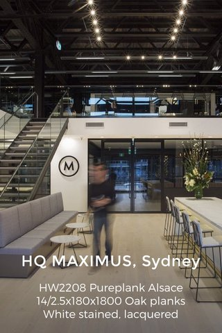 HQ MAXIMUS, Sydney HW2208 Pureplank Alsace 14/2.5x180x1800 Oak planks White stained, lacquered