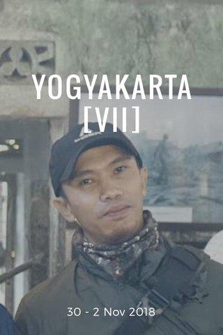 YOGYAKARTA [VII] 30 - 2 Nov 2018