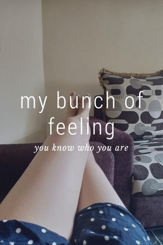 my bunch of feeling you know who you are