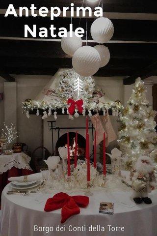 Anteprima Natale Borgo dei Conti della Torre