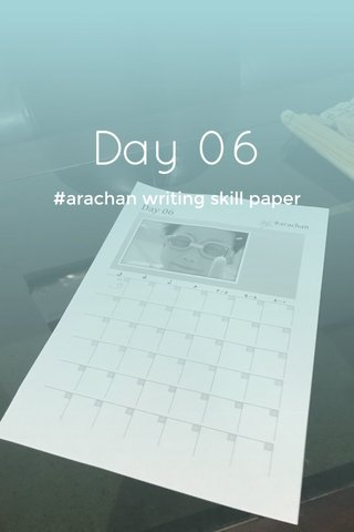 Day 06 #arachan writing skill paper