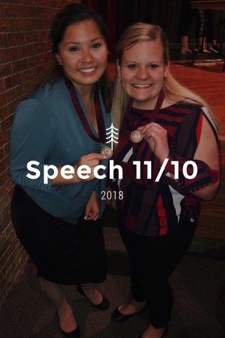 Speech 11/10 2018