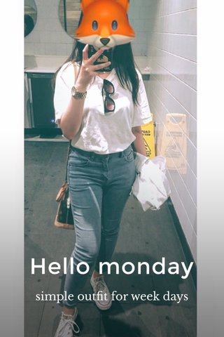 Hello monday simple outfit for week days
