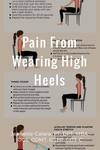 Pain From Wearing High Heels Jeanette Calara, PT, DPT, MBA, OCS, COMT, GCFP, COS-C