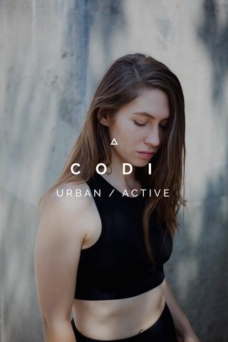 CODI URBAN / ACTIVE