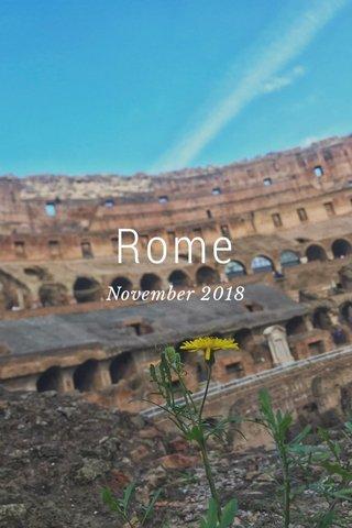 Rome November 2018