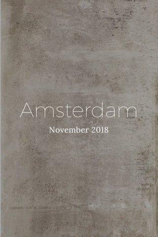 Amsterdam November 2018