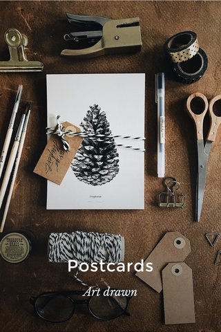 Postcards Art drawn