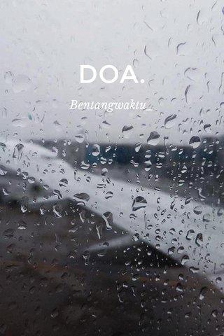 DOA. Bentangwaktu_