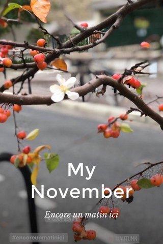 My November Encore un matin ici