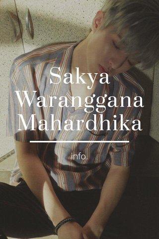 Sakya Waranggana Mahardhika info.